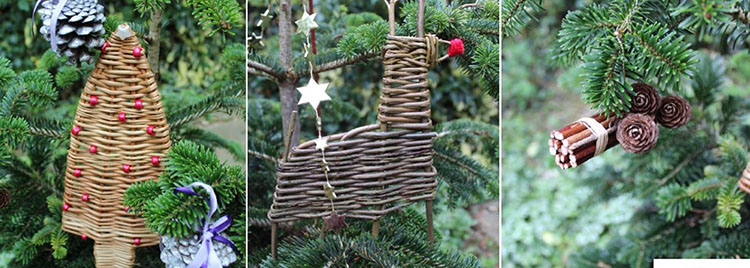 Make a Christmas tree decoration from willow at the Rushmere Country Park Visitor Centre