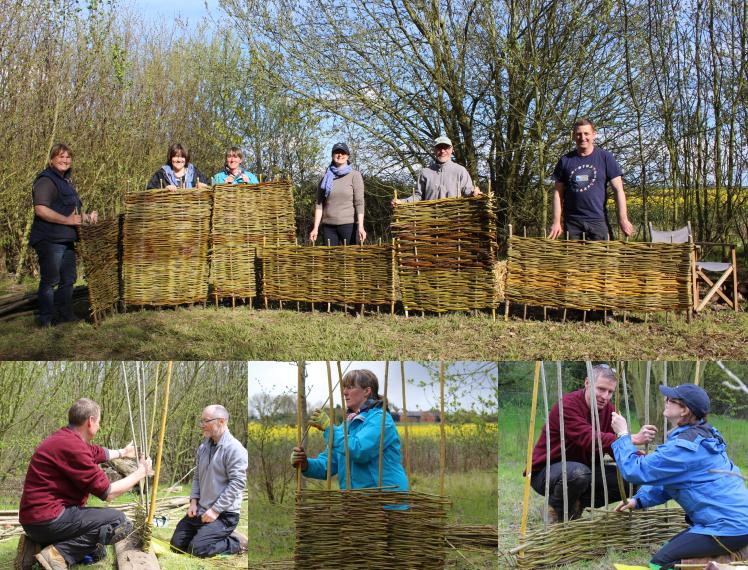 Wassledine offers hurdle making experience days in their wood in Bedfordshire, Bottoms' Corner