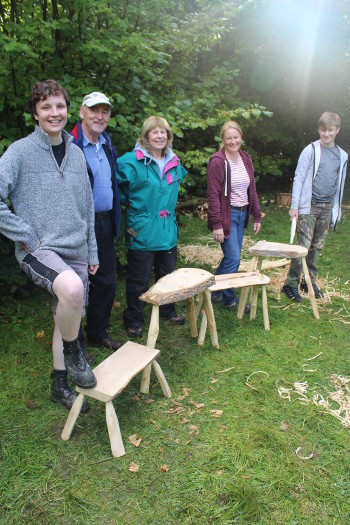 The results of a day's stool making with Wassledine- excellent!