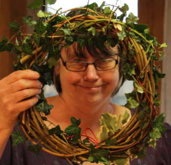 Making wreaths for Christmas at Jordan's Mill - have fun producing something very decorative