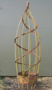 A 15 inch diameter willow obelisk