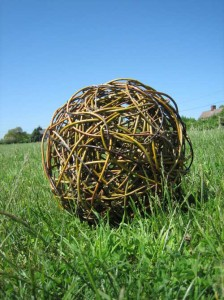 A 24 inch diameter willow ball