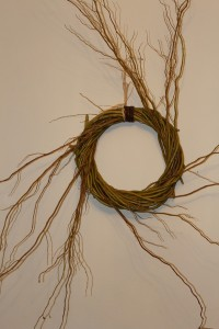 Willow wreath with sunbursts