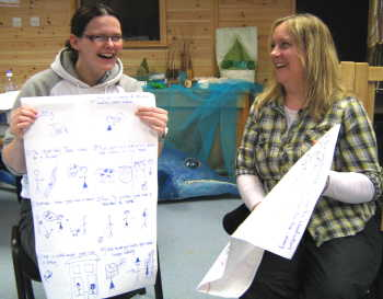 Wildlife Trust staff learn how to remember a story