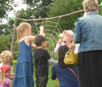 A huge web in Ampthill Park for a Greensand Trust 'Run Wild' event