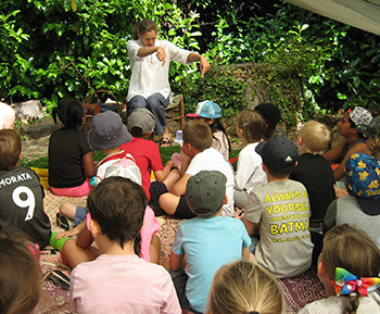 Storytelling in the woods wwith Jane Lambourne of Wassledine