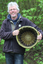 Ed Burnett teaches basket making and other craft skills at Wassledine, Bedfordshire