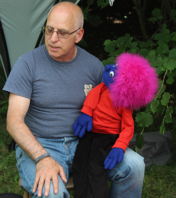 A puppet in the Wood last summer