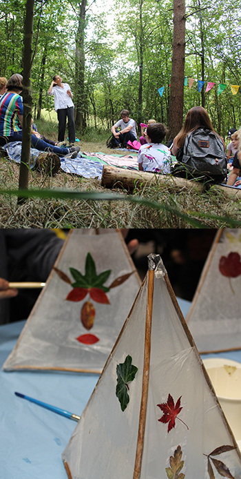 Storytelling in MAulden Woods and lantern making at the Working Woodlands Centre