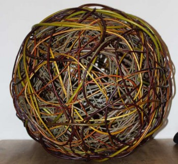 24 inch willow ball in multicoloured willow