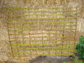 A willow panel using an open weave