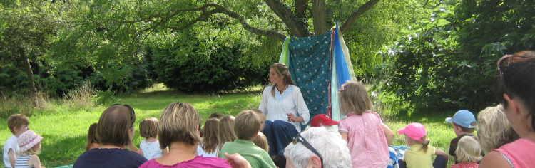 Jane telling stories at RHS Wisley