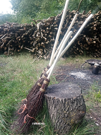 Wassledine's besom brooms - available while stocks last