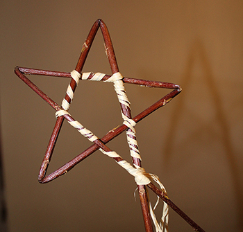 A simple willow and raffia star