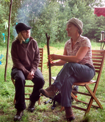 Storytelling in teh woods with Wassledine