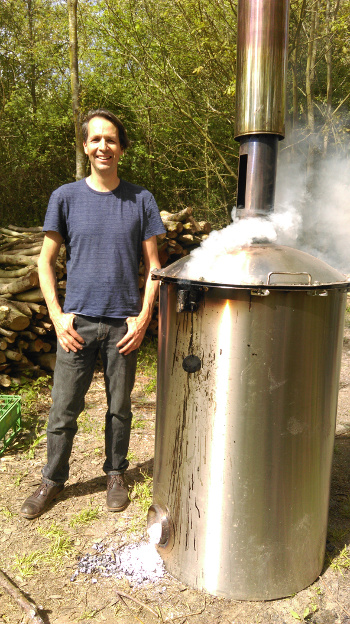 James and the giant stainless steel dustbin