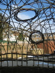 Detail of a willow dome